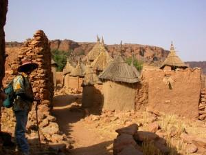 Le village de Tiogou dans le pays Dogon au Mali.
